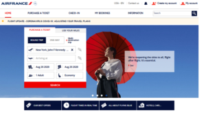 official site of Air France